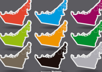 United Arab Emirates Colorful Vector Stickers - Kostenloses vector #389627