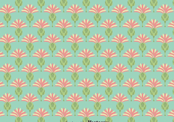 Flat Thistle Flowers Seamless Background - Kostenloses vector #389657