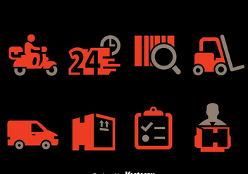 Delivery Element Icons Vector - vector gratuit #389667