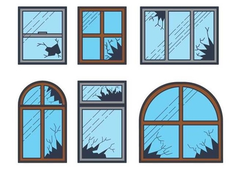 Broken Window Vector - vector #389717 gratis