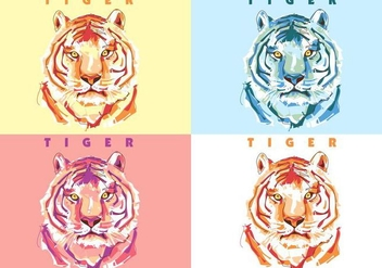 Tiger Colorful - vector #389767 gratis