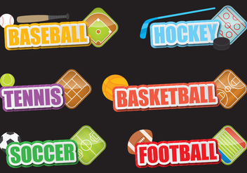 Sport Titles - vector gratuit #389787