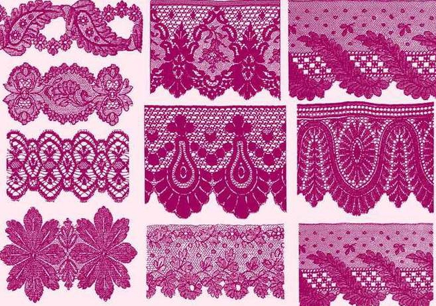 Sample Lace Silhouettes - Free vector #389867