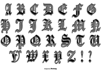 Hydro74 Style Alphabet Pack - Free vector #389907