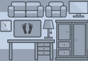 Home Furniture Icons Set - vector gratuit #389937
