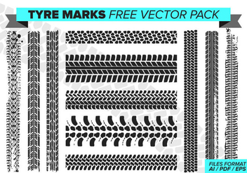 Tire Marks Free Vector Pack - бесплатный vector #389987