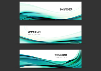 Free Vector Blue Header - Free vector #389997