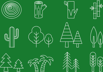 Tree Line Icons - vector gratuit #390057
