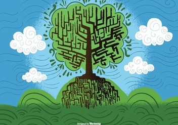 Tree of Wisdom Vector - Free vector #390097