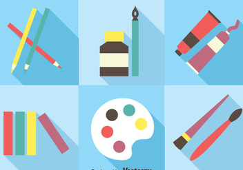 Paint Tools Vector Set - бесплатный vector #390177
