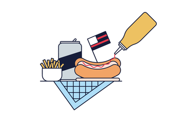 Free Hot Dog Vector - vector gratuit #390247
