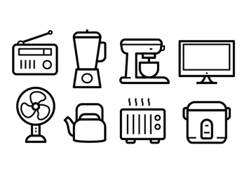 Free Home Appliances Icon Set - vector #390257 gratis