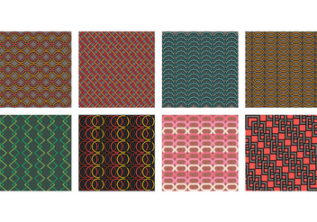 Chainmail Style Pattern Set - vector gratuit #390277