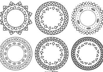 Cute Hand Drawn Style Frames - vector #390347 gratis