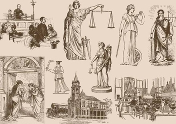 Law And Justice Drawings - vector gratuit #390427