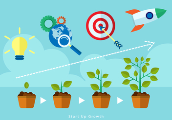 Free Start Up Growth Illustration Vector - Free vector #390437