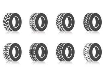 Free Tractor Tires Vector - Free vector #390477