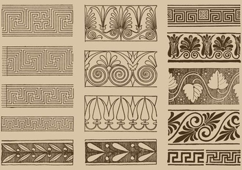 Greek Ornaments - vector gratuit #390497