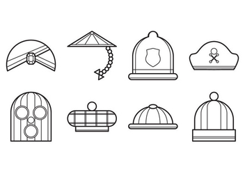 Free Hat Icon Vector - vector gratuit #390507