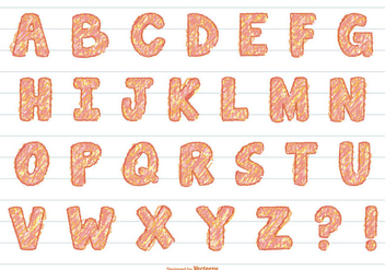 Fun Scribble Vector Alphabet - vector #390517 gratis