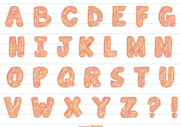 Fun Scribble Vector Alphabet - Kostenloses vector #390517