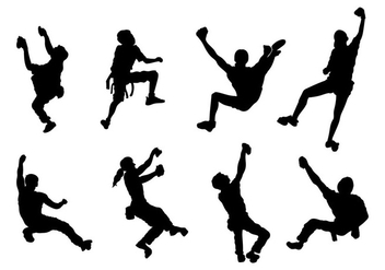 Climber Silhouette Vectors - Free vector #390527