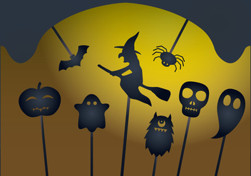 Halloween Shadow Puppet Vectors - vector gratuit #390557