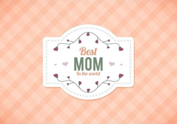 Free Vector Moms Peach Gingham Background - Free vector #390587