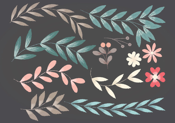 Vector Floral Elements - Kostenloses vector #390617