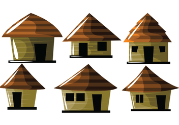 Cute Shack Vectors - vector gratuit #390627