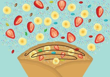 Free Crepes Illustration - Kostenloses vector #390667