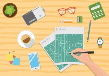 Free Sudoku Illustration - бесплатный vector #390707