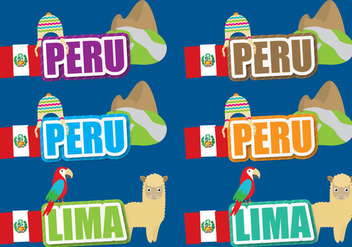 Peru Titles - vector gratuit #390727