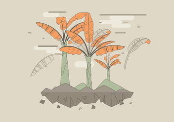 Banana Tree Vector - vector gratuit #390737