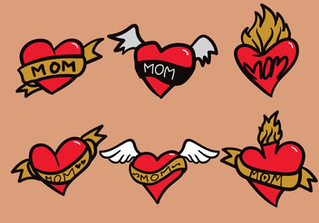 Mom Tattoo Vector - Free vector #390747