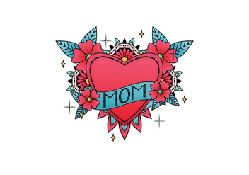 Mom Tattoo Vector - vector gratuit #390757