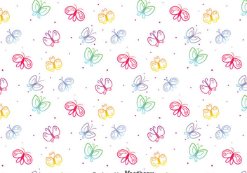 Colorful Butterfly Pattern - Free vector #390817