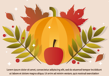 Free Thanksgiving Vector Pumpkin - Free vector #390907