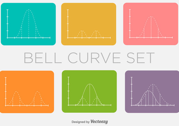 Bell Curve Vector Minimal Shapes - Free vector #390937