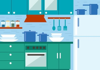 Free Kitchen Vector Illustration - Free vector #390997