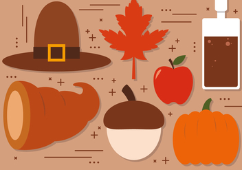 Free Thanksgiving Vector Decoration - Kostenloses vector #391027
