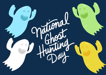 National Ghost Hunting Day - vector gratuit #391097