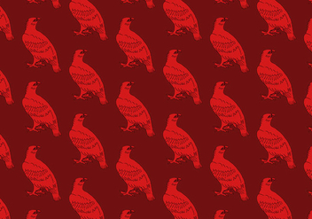 Red Hawk Seamless Pattern - Free vector #391107