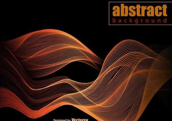 Vector Orange Abstract Wave Template - бесплатный vector #391177