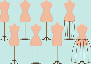 Fashion Sewing Dummies - vector gratuit #391227