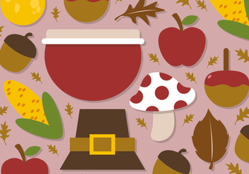 Free Flat Autumn Vector Elements - Kostenloses vector #391277