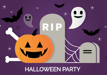 Free Scary Vector Halloween Background - Free vector #391337