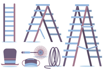 Chimney Sweep Vector Set - Free vector #391427