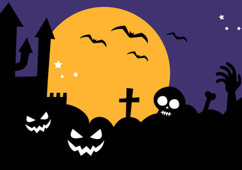 Free Halloween Background Vector - vector gratuit #391447