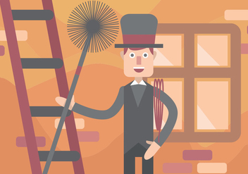 Chimney Sweep Vector Art - Free vector #391507